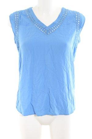 Hilfiger Denim Kurzarm-Bluse blau Business-Look