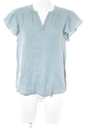 Hilfiger Denim Kurzarm-Bluse blassblau Casual-Look
