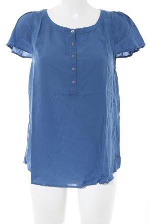 Hilfiger Denim Kurzarm-Bluse blau Casual-Look