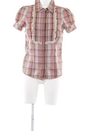 Hilfiger Denim Shirt met korte mouwen geruite print casual uitstraling