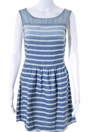 Hilfiger Denim Kurzarmkleid blau-hellblau Ringelmuster Casual-Look