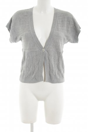 Hilfiger Denim Short Sleeve Knitted Jacket light grey cable stitch casual look