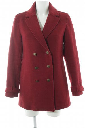 Hilfiger Denim Short Coat dark red classic style