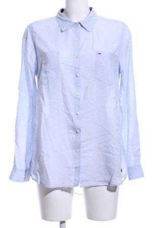 Hilfiger Denim Langarm-Bluse blau Business-Look