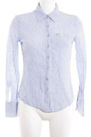 Hilfiger Denim Langarm-Bluse blau-weiß Streifenmuster Business-Look