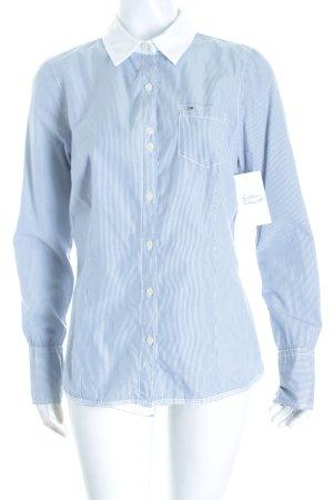 Hilfiger Denim Langarm-Bluse blau-weiß Streifenmuster klassischer Stil