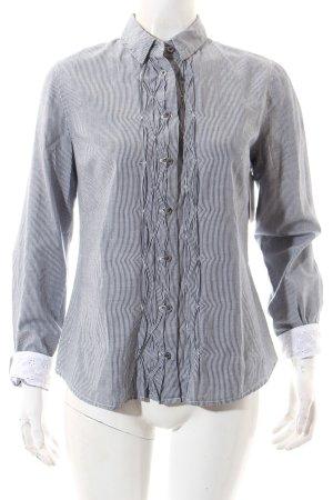 Hilfiger Denim Langarm-Bluse dunkelblau-weiß Streifenmuster Casual-Look