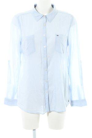 Hilfiger Denim Langarm-Bluse himmelblau Casual-Look