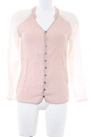 Hilfiger Denim Langarm-Bluse nude-hellbeige schlichter Stil