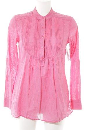 Hilfiger Denim Langarm-Bluse pink Nadelstreifen Casual-Look