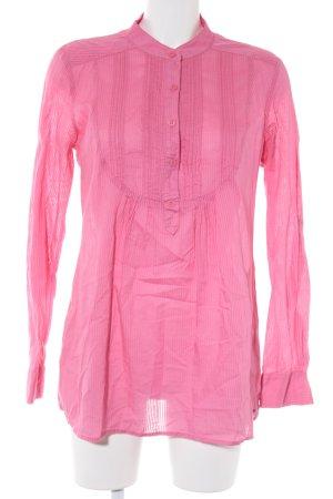 Hilfiger Denim Langarm-Bluse pink Streifenmuster Casual-Look