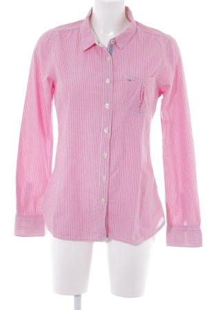 Hilfiger Denim Langarm-Bluse rosa-weiß Streifenmuster Casual-Look