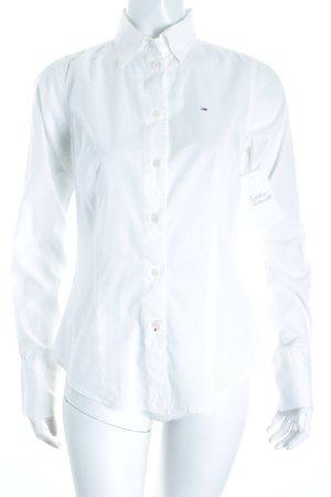 Hilfiger Denim Langarm-Bluse weiß klassischer Stil