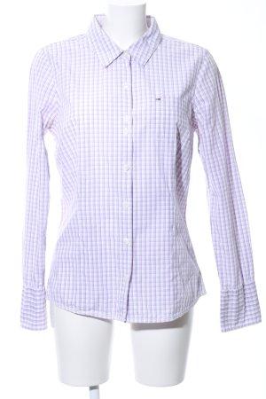 Hilfiger Denim Langarmhemd lila-weiß Karomuster Casual-Look