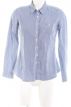 Hilfiger Denim Langarmhemd blau-weiß Karomuster Business-Look