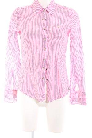 Hilfiger Denim Langarmhemd pink-weiß Streifenmuster Business-Look