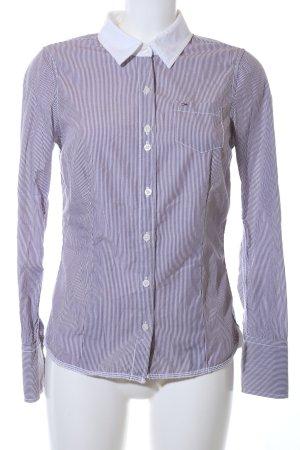 Hilfiger Denim Langarmhemd blau-weiß Streifenmuster Business-Look