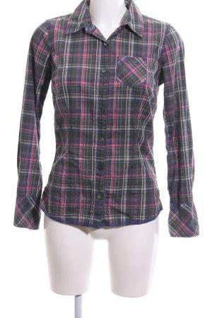Hilfiger Denim Langarmhemd schwarz-pink Allover-Druck Casual-Look