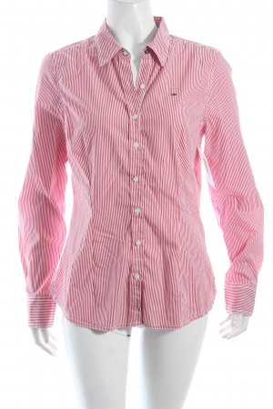 Hilfiger Denim Langarmhemd dunkelrot-weiß Streifenmuster klassischer Stil