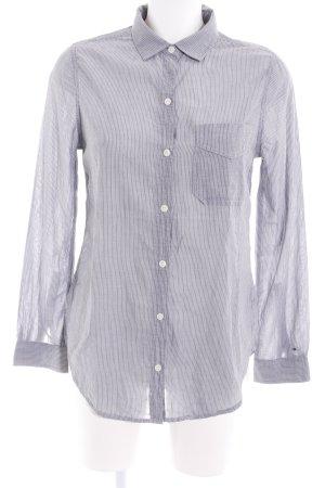 Hilfiger Denim Langarmhemd graublau-weiß Streifenmuster Business-Look