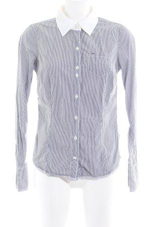 Hilfiger Denim Langarmhemd graublau-wollweiß Streifenmuster Casual-Look