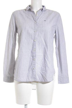 Hilfiger Denim Langarmhemd hellgrau meliert klassischer Stil