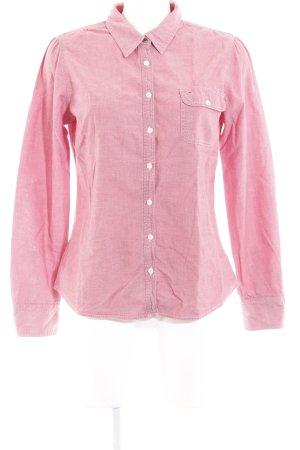 Hilfiger Denim Camisa de manga larga rojo claro-blanco puro estilo sencillo