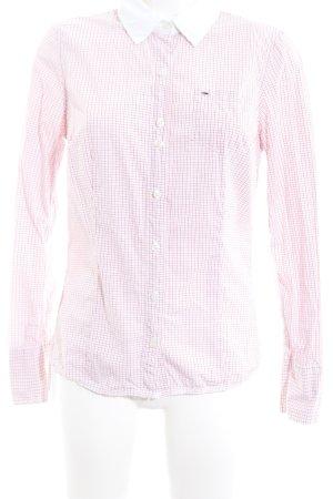 Hilfiger Denim Langarmhemd rosé-rosa Karomuster Casual-Look