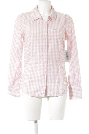 Hilfiger Denim Langarmhemd rosé-wollweiß Karomuster Business-Look