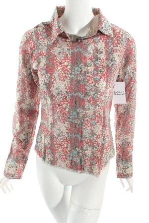 Hilfiger Denim Langarmhemd rot-ocker florales Muster Casual-Look