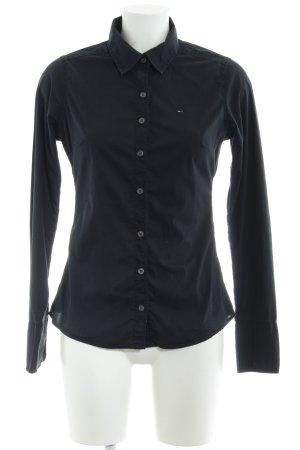 Hilfiger Denim Langarmhemd schwarz Casual-Look