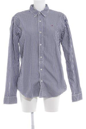 Hilfiger Denim Langarmhemd stahlblau-weiß Streifenmuster Casual-Look