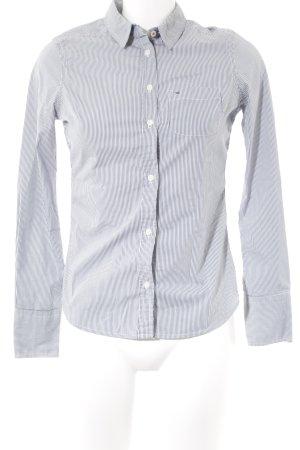 Hilfiger Denim Langarmhemd weiß-blau Streifenmuster Casual-Look