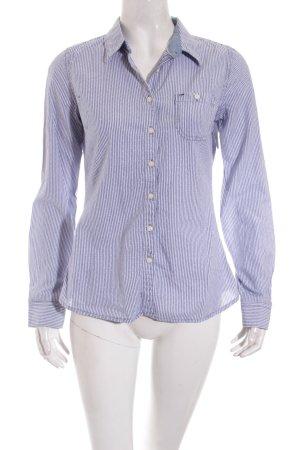 Hilfiger Denim Langarmhemd weiß-himmelblau Streifenmuster Casual-Look