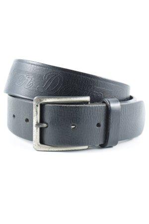 Hilfiger Denim Ledergürtel schwarzbraun-silberfarben Casual-Look