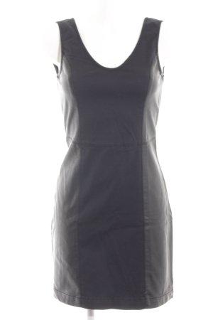 Hilfiger Denim Leren jurk zwart klassieke stijl