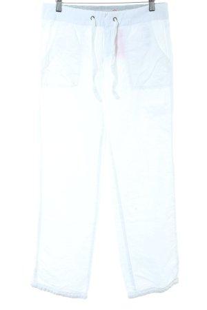 Hilfiger Denim Pantalon en lin blanc cassé style décontracté
