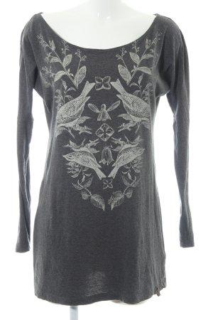 Hilfiger Denim Camisa larga gris-blanco puro estampado floral look casual