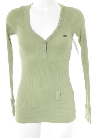Hilfiger Denim Camisa larga verde claro look casual