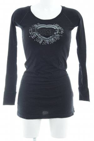 Hilfiger Denim Longshirt schwarz schlichter Stil
