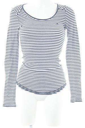 Hilfiger Denim Longsleeve weiß-dunkelblau Streifenmuster Casual-Look