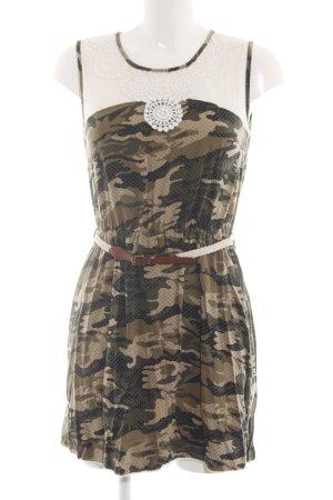 Hilfiger Denim Minikleid khaki-creme Camouflagemuster Party-Look