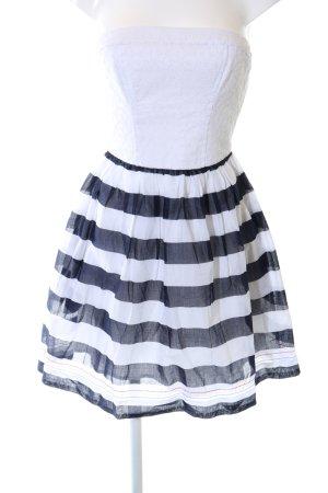 Hilfiger Denim Minikleid weiß-schwarz Streifenmuster Elegant