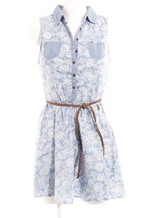 Hilfiger Denim Minikleid himmelblau florales Muster Elegant