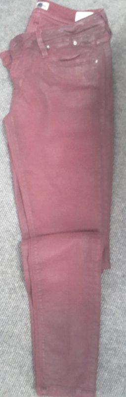 Hilfiger Denim Five-Pocket Trousers carmine mixture fibre