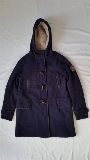 Hilfiger Denim Duffel Coat dark blue wool