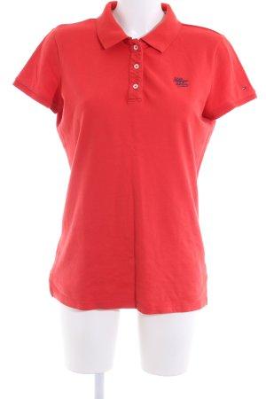 Hilfiger Denim Polo Shirt red casual look