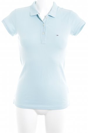 Hilfiger Denim Polo-Shirt babyblau Casual-Look