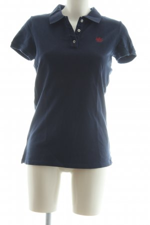 Hilfiger Denim Polo-Shirt dunkelblau Casual-Look