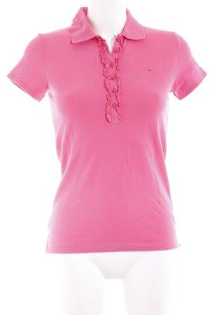 Hilfiger Denim Polo-Shirt pink Casual-Look